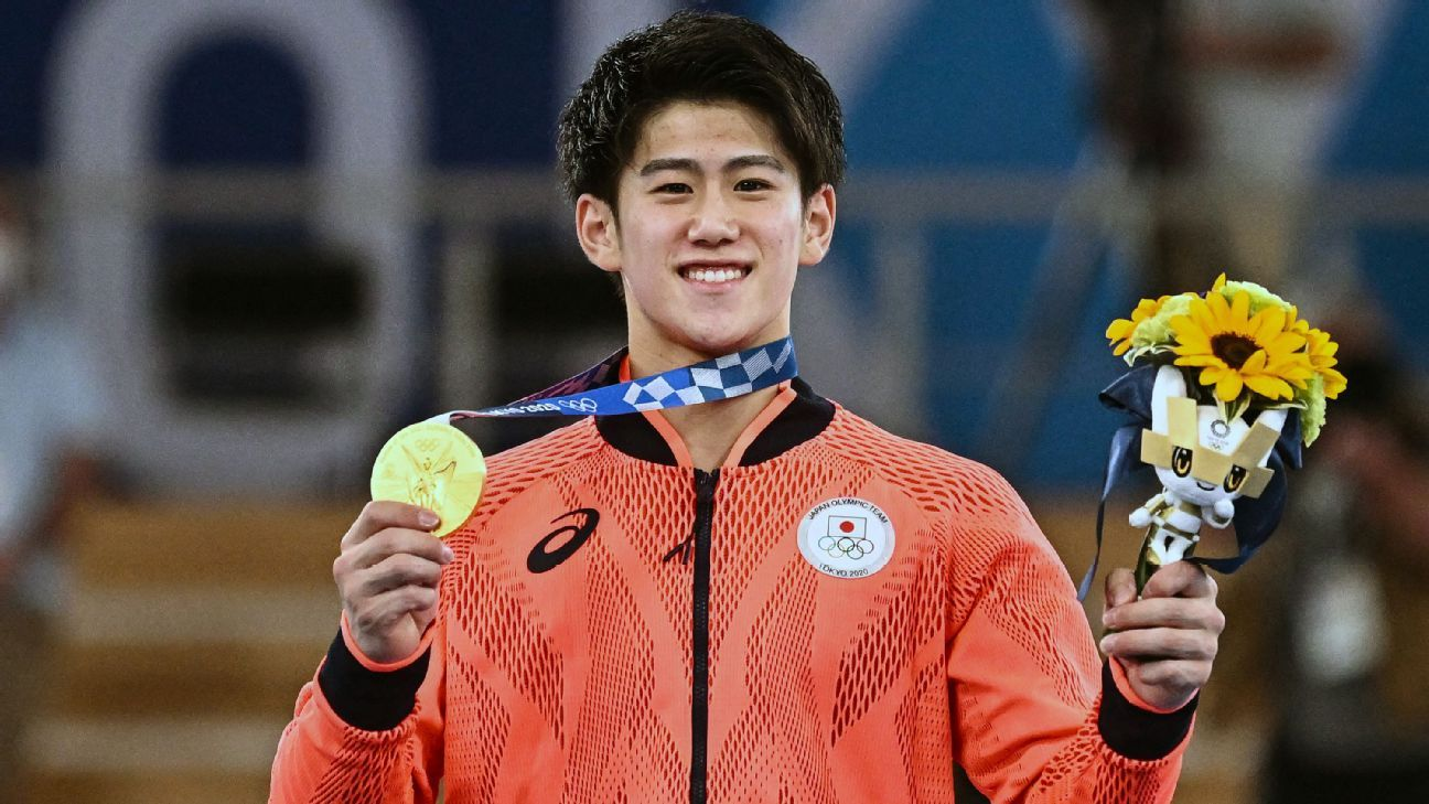 Japan's Hashimoto takes gold in men's all-around
