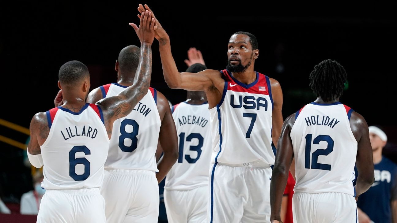 Kevin Durant powers Team USA's rout of Czech Republic on record night - ESPN