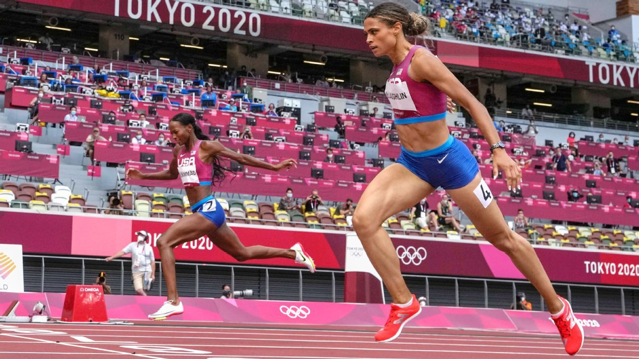 McLaughlin breaks 400m hurdles WR to win gold thumbnail