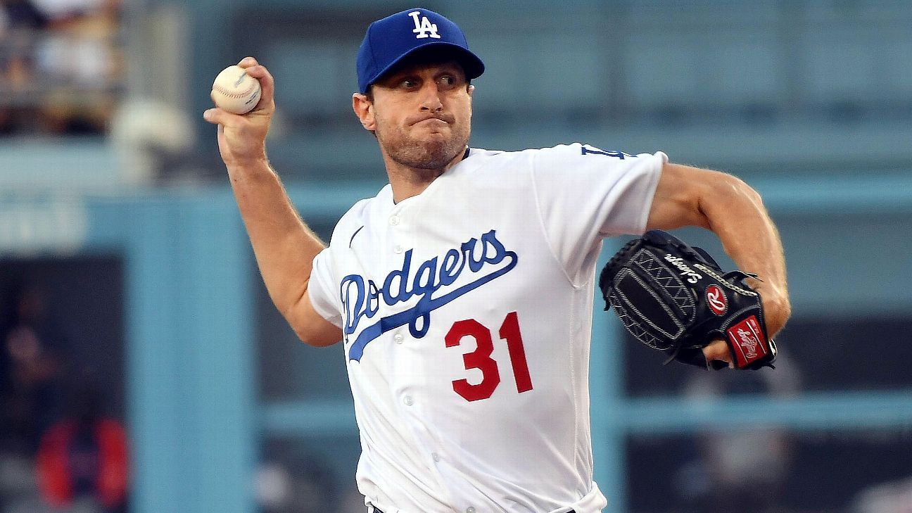 Scherzer wins his Dodgers debut, fans 10 Astros