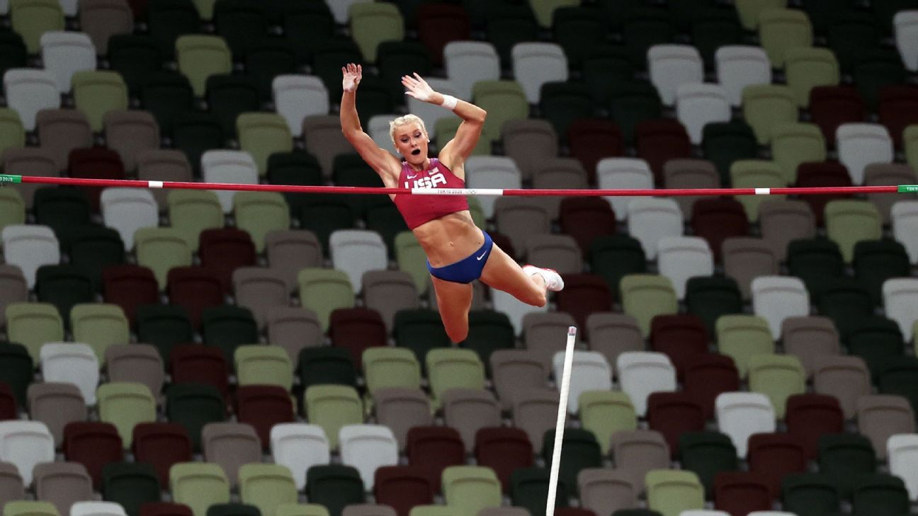 Katie Nageotte surprises with pole vault gold for U.S.