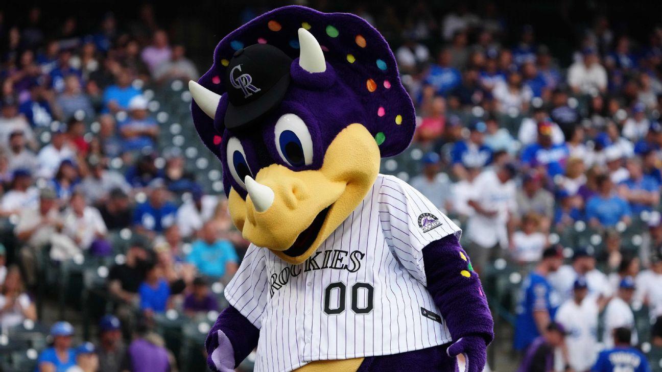 Colorado Rockies say fan shouted at mascot Dinger, didn't yell racial slur at Miami Marlins' Lewis Brinson