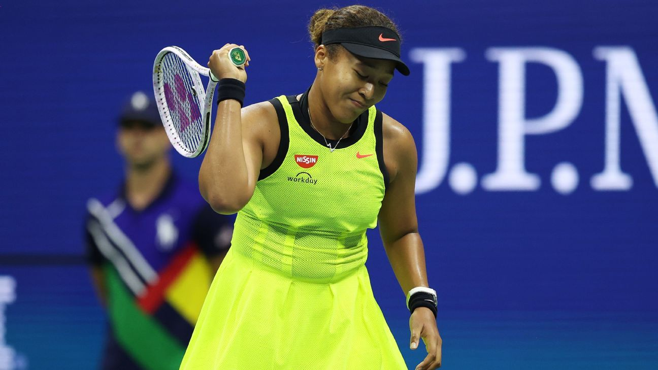 Naomi Osaka's US Open title defense ends in loss to Canadian teen Leylah Fernandez
