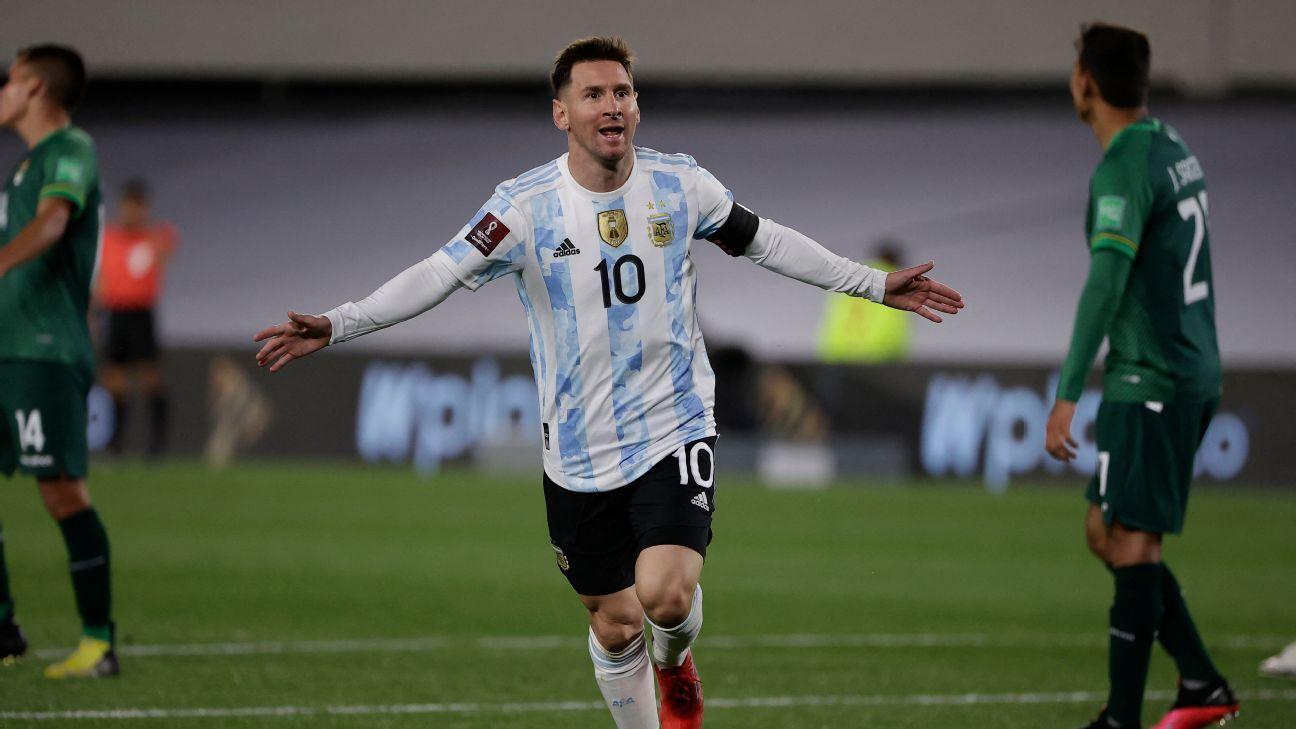 Argentina's Lionel Messi breaks Brazil legend Pele's South American men's goals record
