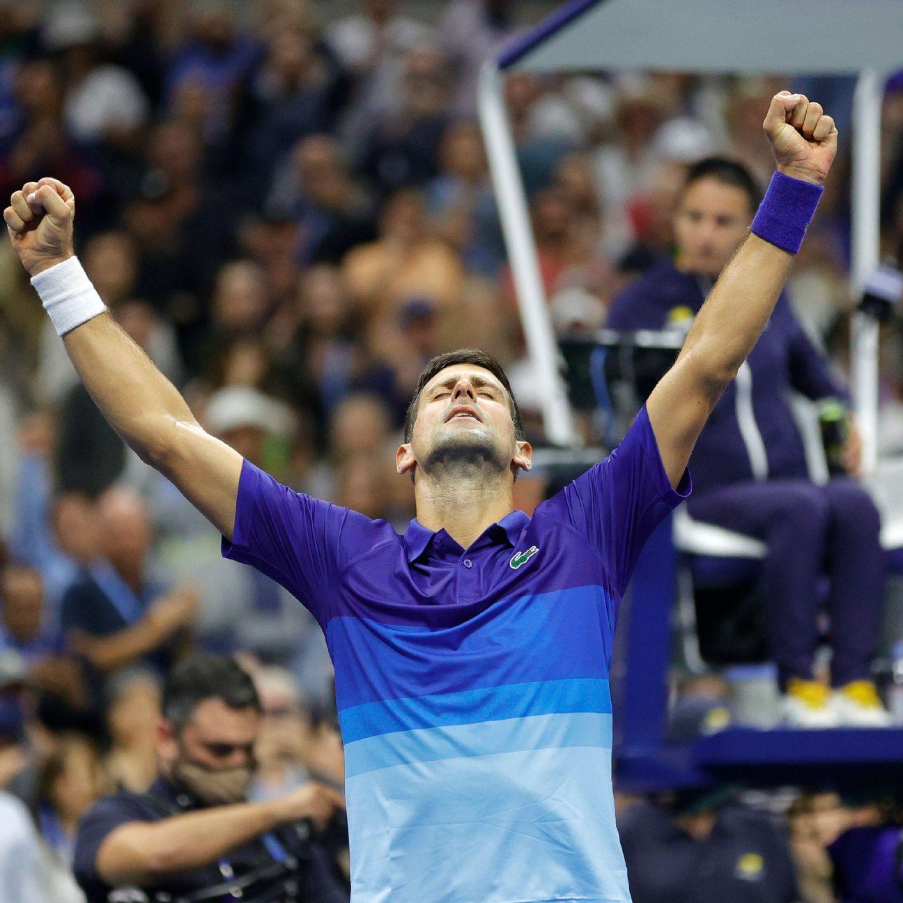 Novak Djokovic powers through Alexander Zverev in five sets, to face Daniil Medvedev in US Open final