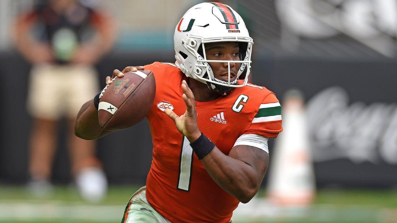 Miami Hurricanes quarterback D'Eriq King to have season-ending shoulder surgery; freshman Tyler Van Dyke named starter