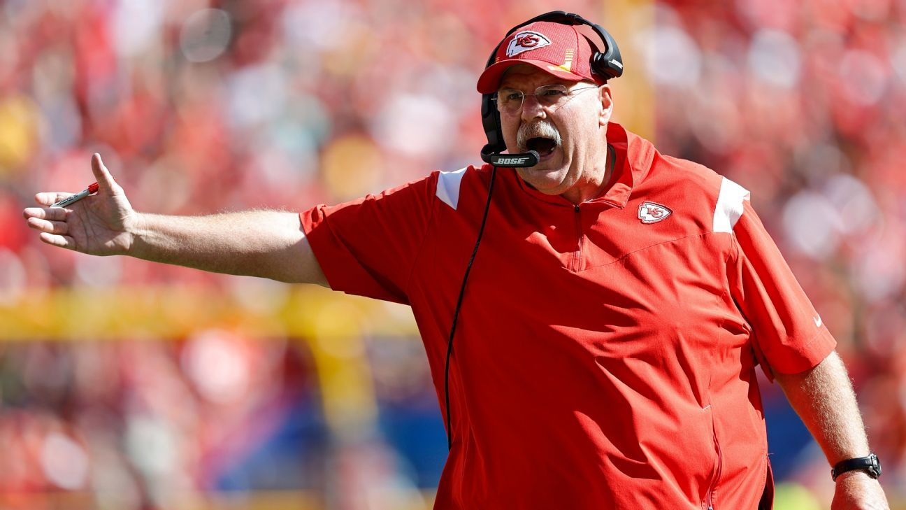 Source: Chiefs' Reid taken to hospital after loss