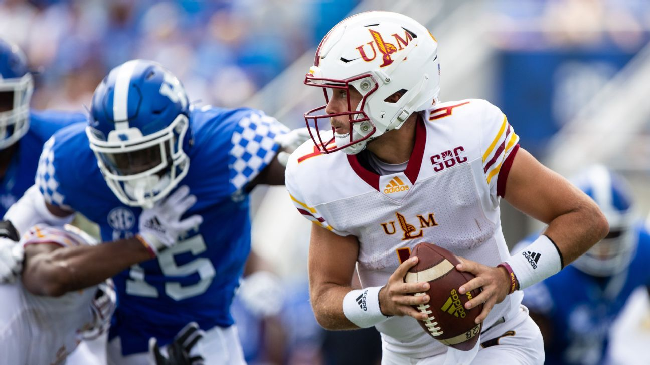 Louisiana-Monroe QB Rhett Rodriguez, son of longtime coach Rich Rodriguez, in intensive care with lung injury