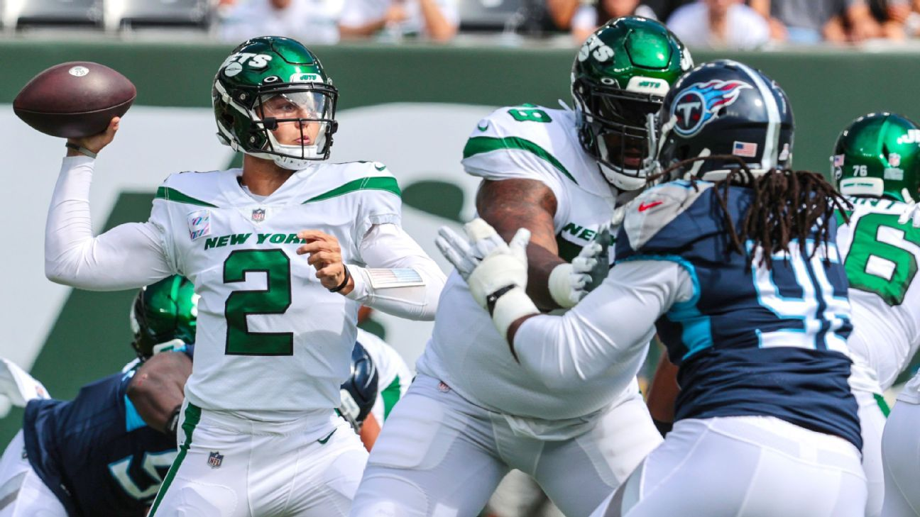 Zach Wilson flashes big-play ability to get 1st win as New York Jets beat Tennessee Titans in OT