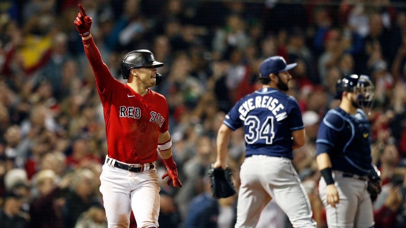 Walk-off sacrifice fly by Kiké Hernandez propels Boston Red Sox into ALCS