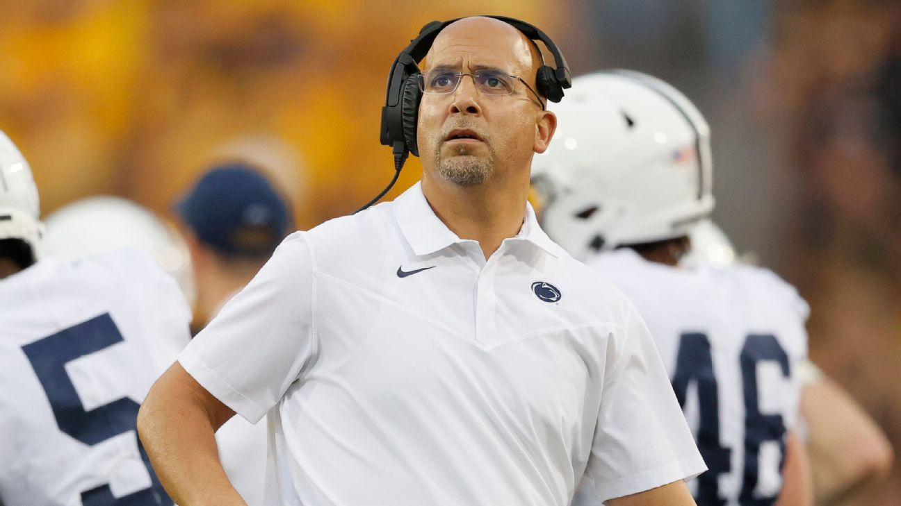 Penn State's James Franklin says faked injuries have 'not shown up' on teams he has coached