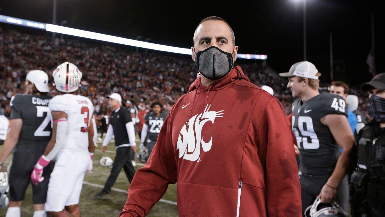 Washington State football coach Nick Rolovich's status unclear ahead of Monday vaccine deadline