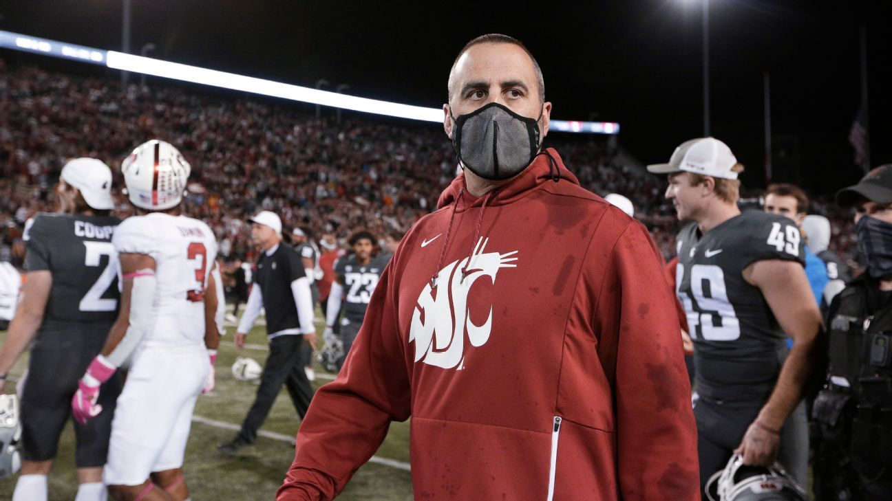 Source: WSU coach Rolovich out after vax refusal
