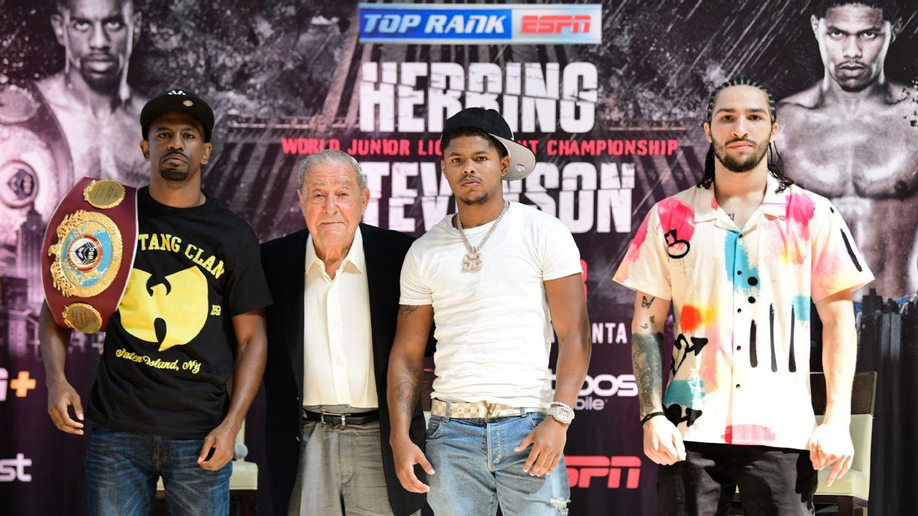 Jamel Herring-Shakur Stevenson live results and analysis: Ali's grandson scores TKO win