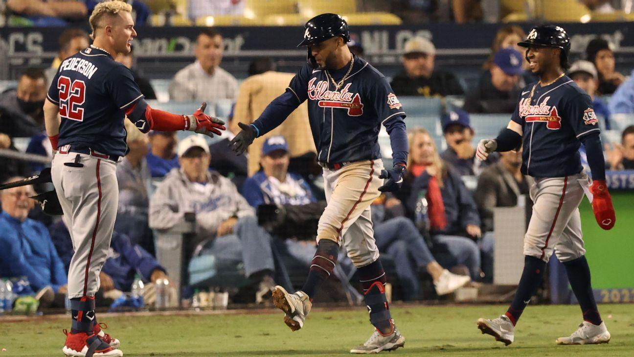 Eddie Rosario's 4-hit, 2-homer night gives Atlanta Braves 3-1 lead over Los Angeles Dodgers in NLCS