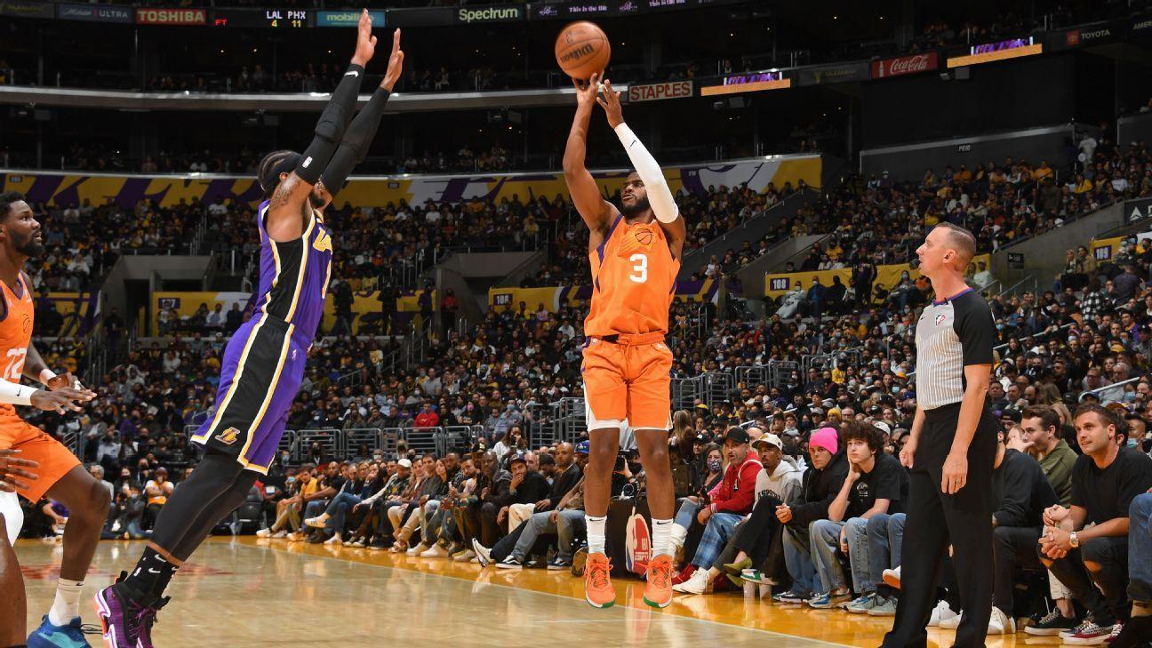 Chris Paul faz história, dá mais uma aula, e Suns atropelam Lakers em LA