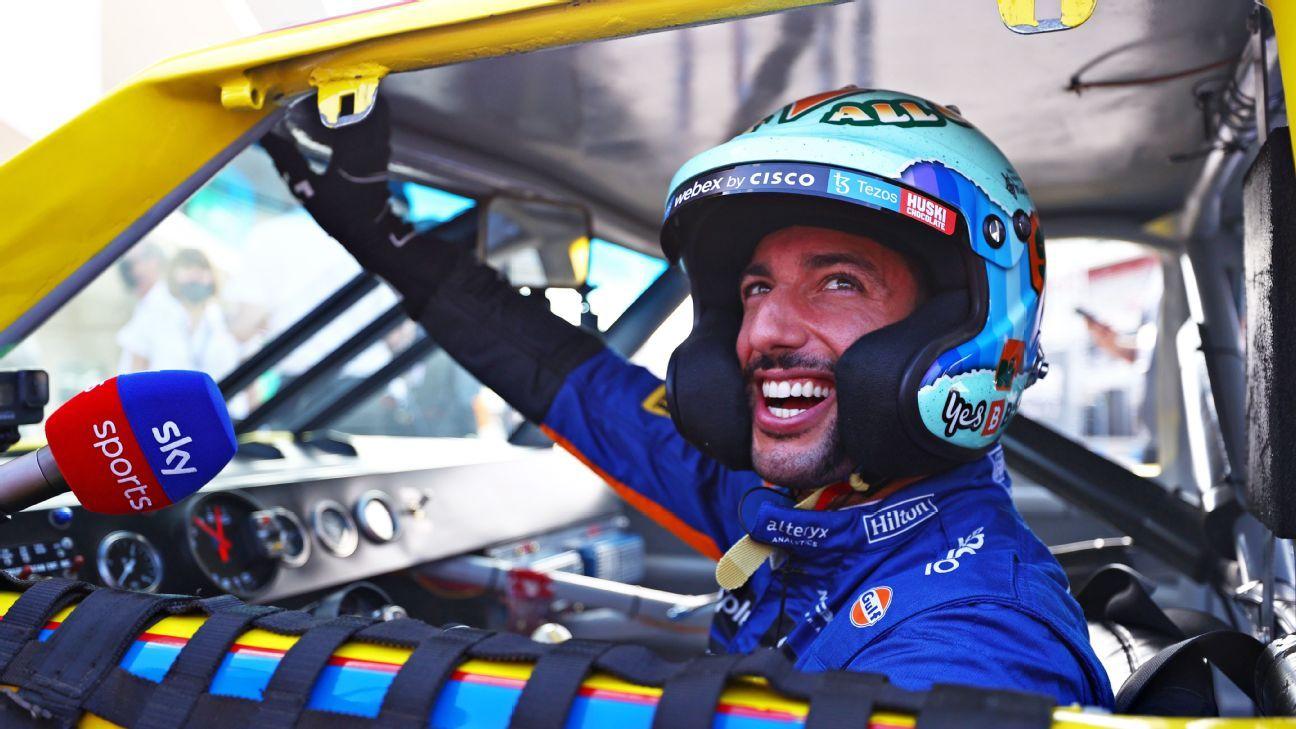 Ricciardo lives out his boyhood dream at the wheel of Earnhardt's car