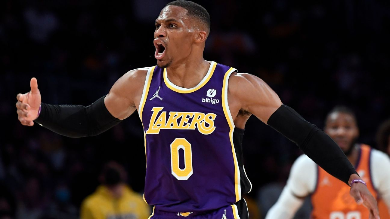 Russell Westbrook, Los Angeles Lakers unfazed by sluggish start, know 'season is too long' to panic