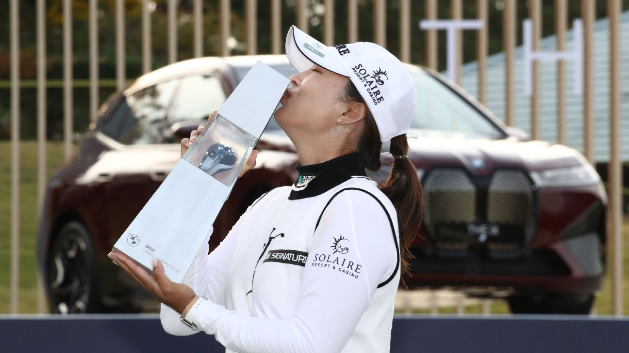 Jin Young Ko wins BMW Ladies Championship in South Korea, set to overtake Nelly Korda as world No. 1