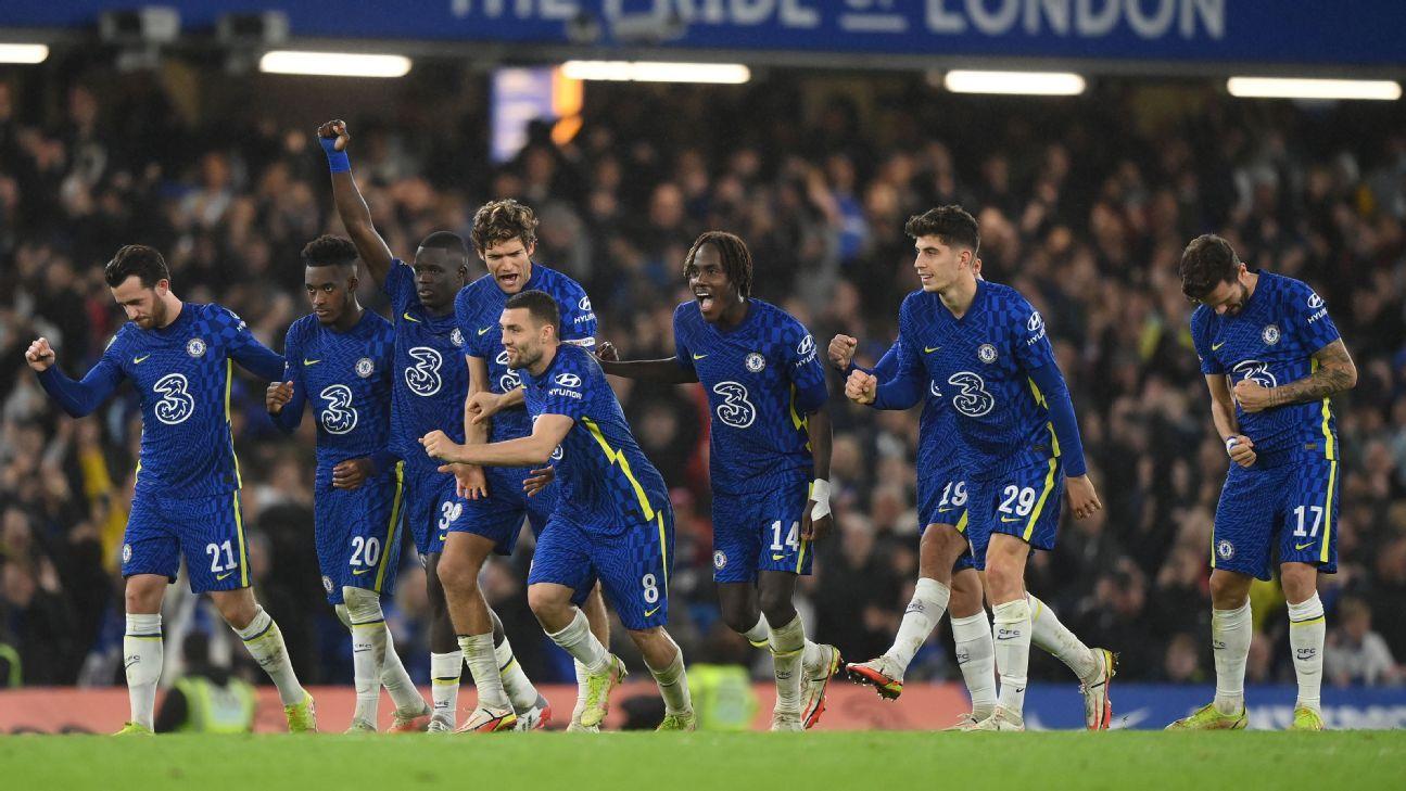 Chelsea beat Southampton in Carabao Cup shootout