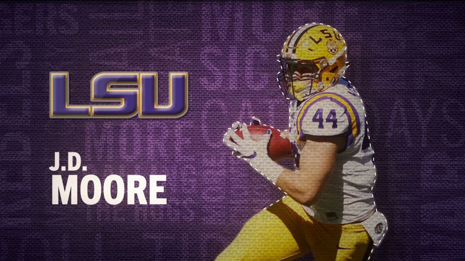 I am the SEC: LSU's J.D. Moore