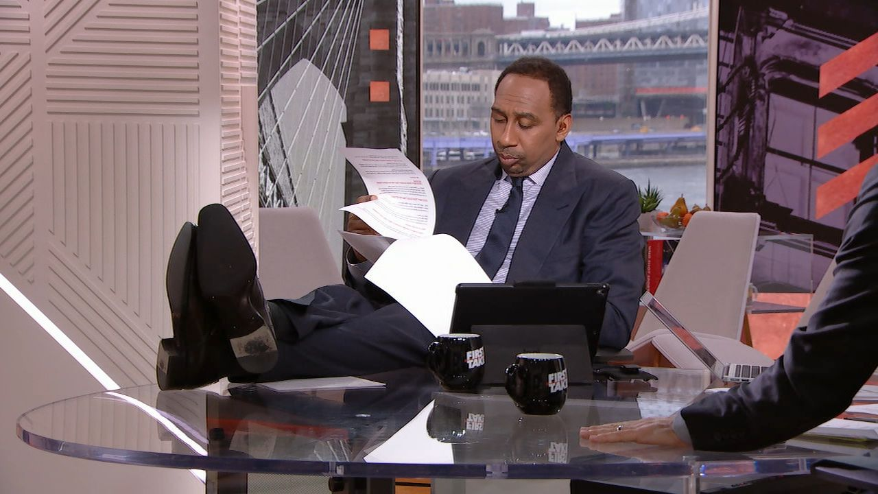 Stephen A. has no patience for talk of Brady's decline