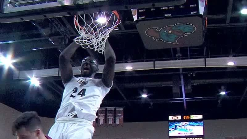 Tacko Fall throws down emphatic 2-handed slam