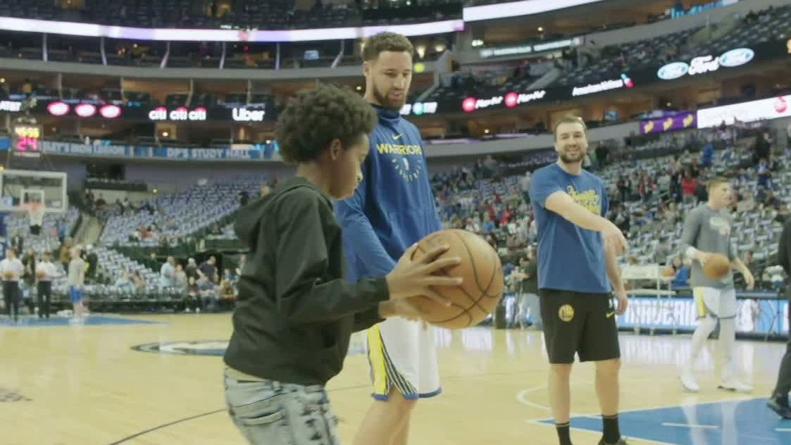 Foster child warms up with Klay