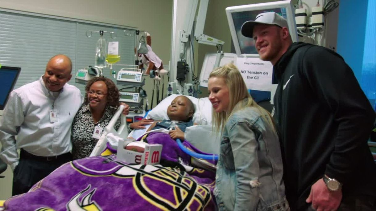 Rudolph makes a difference at Minneapolis hospital