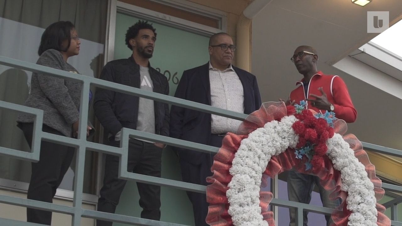 Memphis sports greats Mike Conley and Elliot Perry visit the National Civil Rights Museum for MLK Day