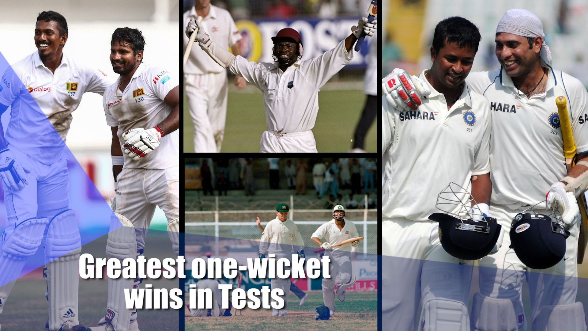 Greatest one-wicket wins in Tests