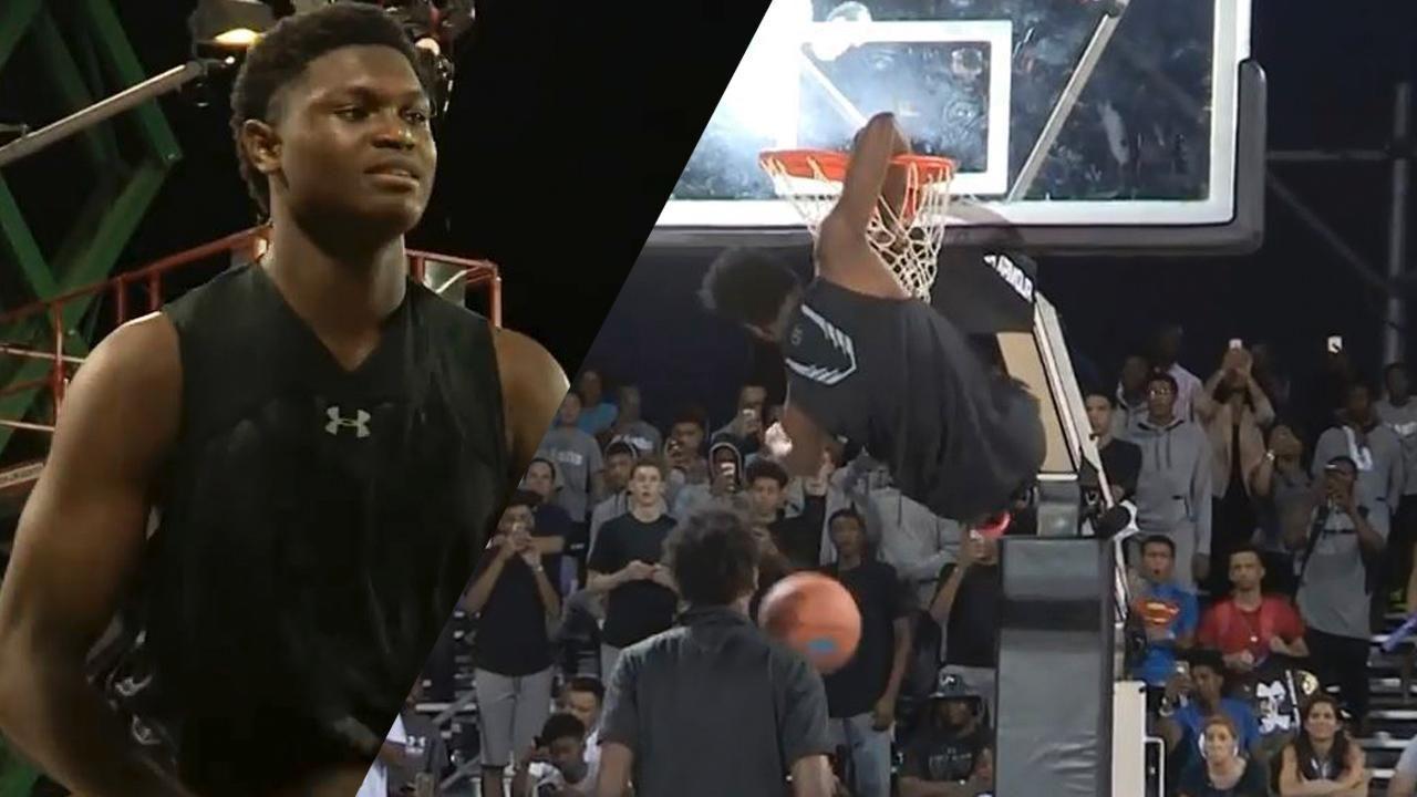 Calouro que pulou Shaq no NBA All-Star já havia feito sua 'obra prima', mas perdeu para Zion Williamson 'criança'