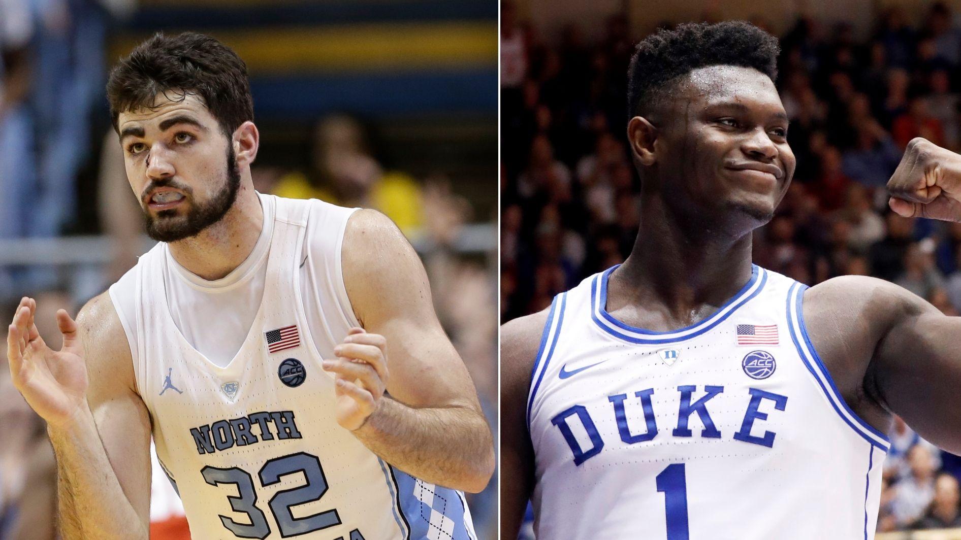 Rivals ready for battle as No. 8 North Carolina visits No. 1 Duke