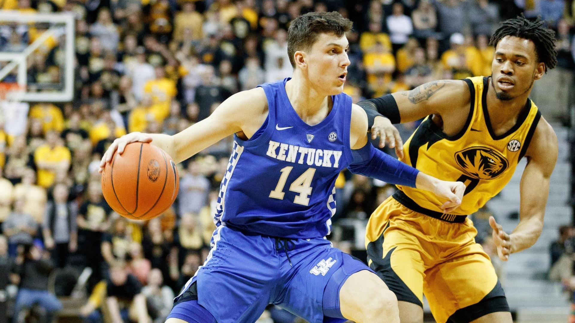 No. 4 Kentucky beats Missouri 66-58