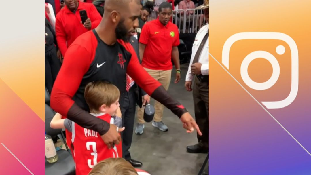 CP3 makes a young fan's day
