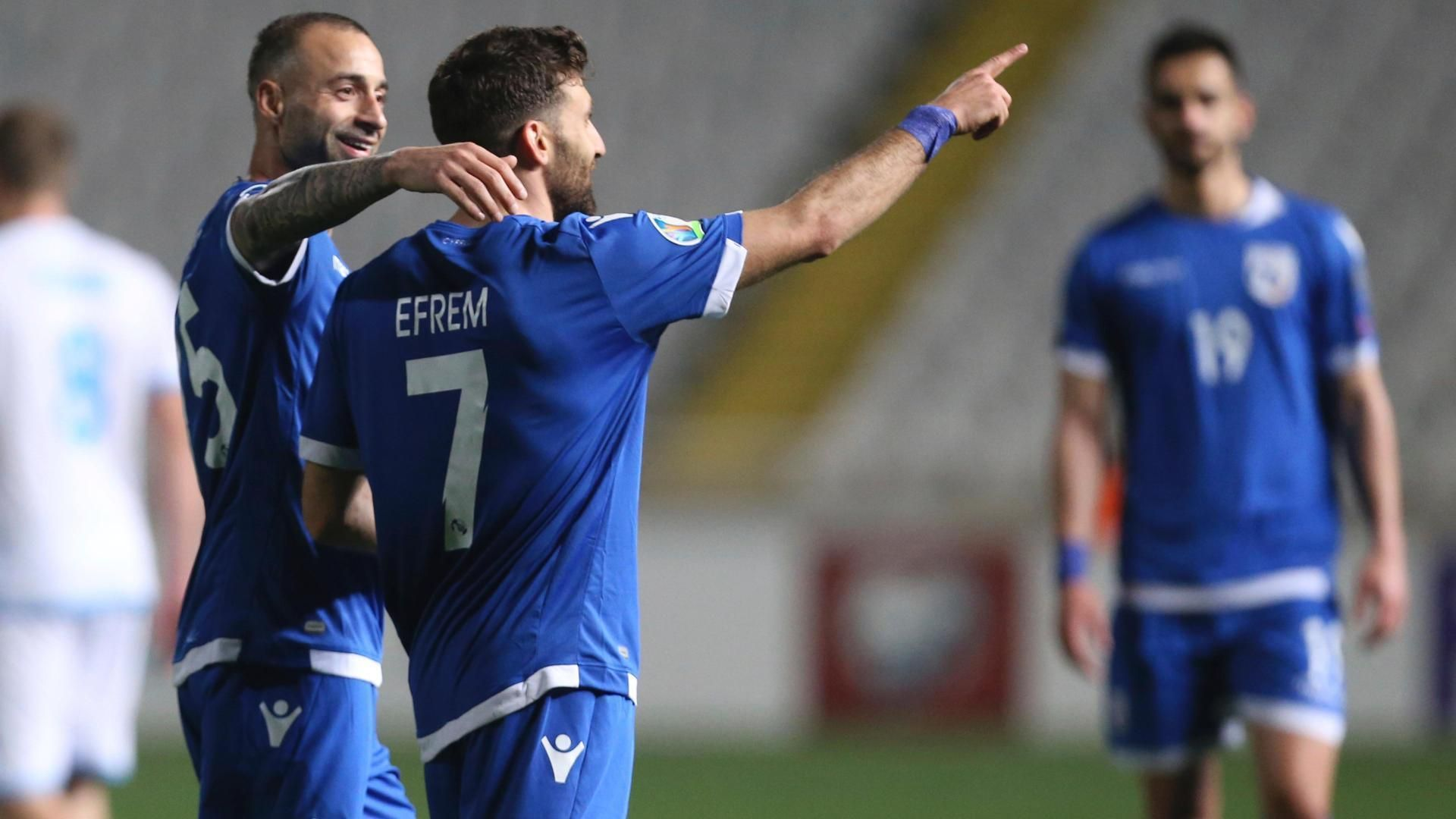 Efrem hits a beauty as Cyprus smash San Marino