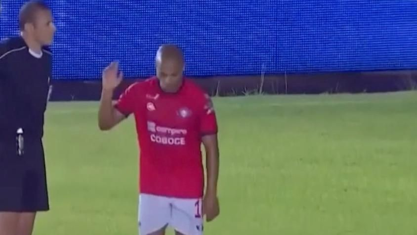 Brazilian striker leaves game after racist chants