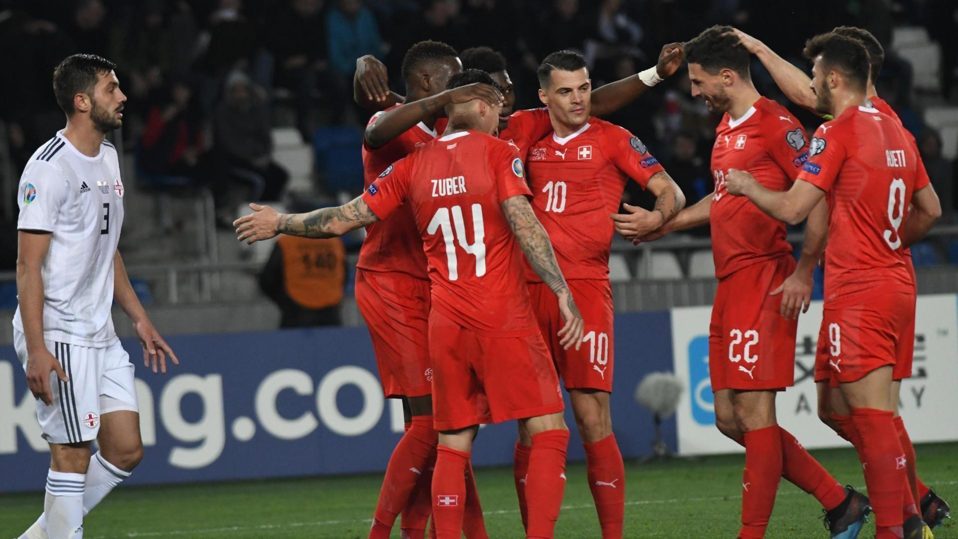Switzerland's fine form continues vs. Georgia