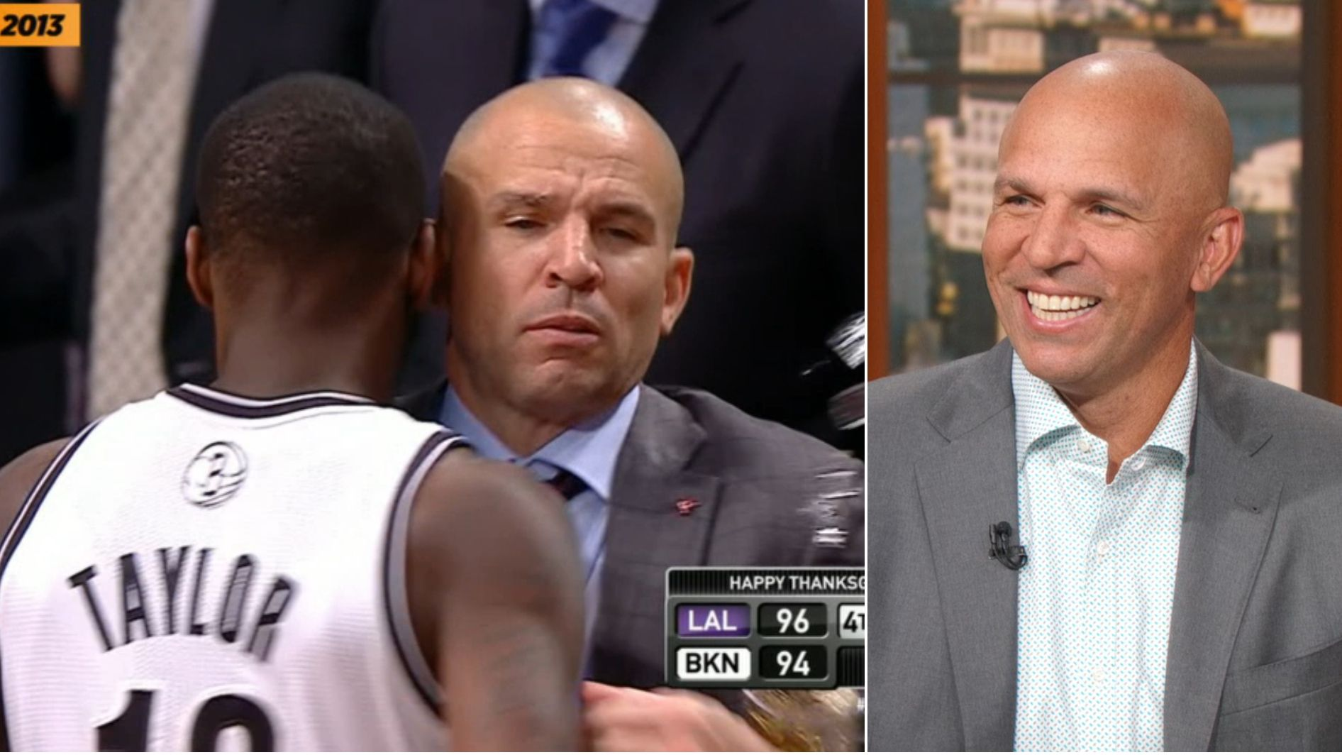 Jason Kidd recalls infamous moment he spilled drink on the court