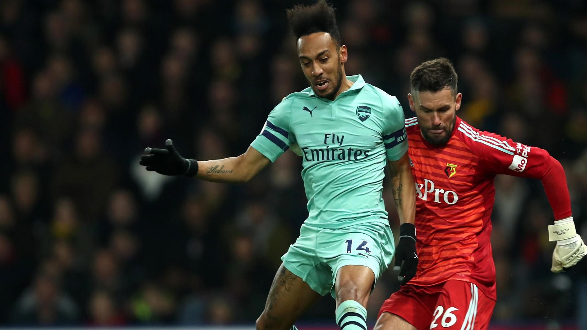 Aubameyang forces Foster mistake to put Arsenal ahead