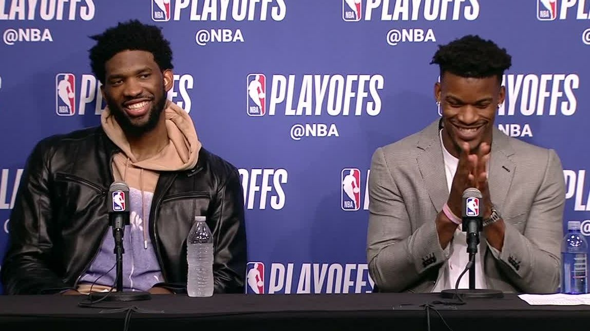 Butler and Embiid have each other's back
