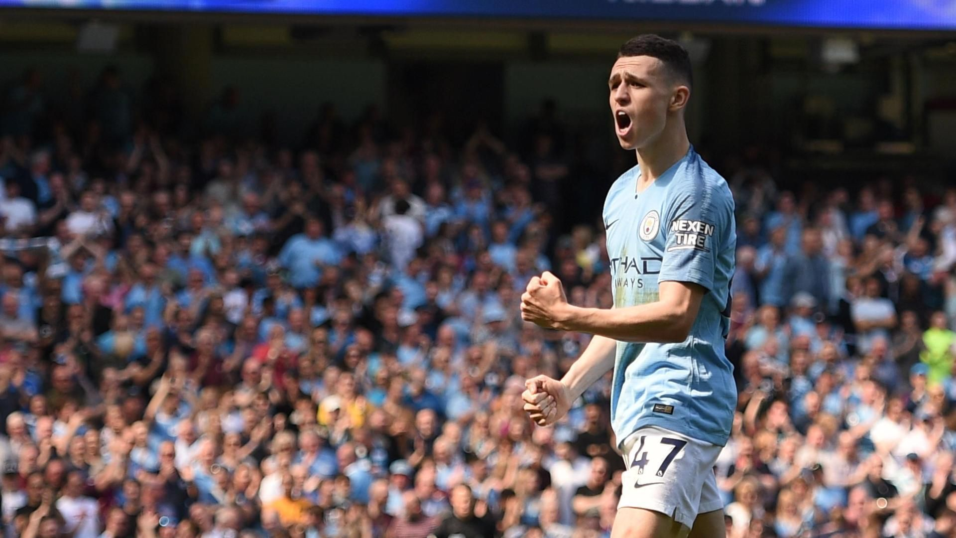 Foden scores 1st Premier League goal for Man City