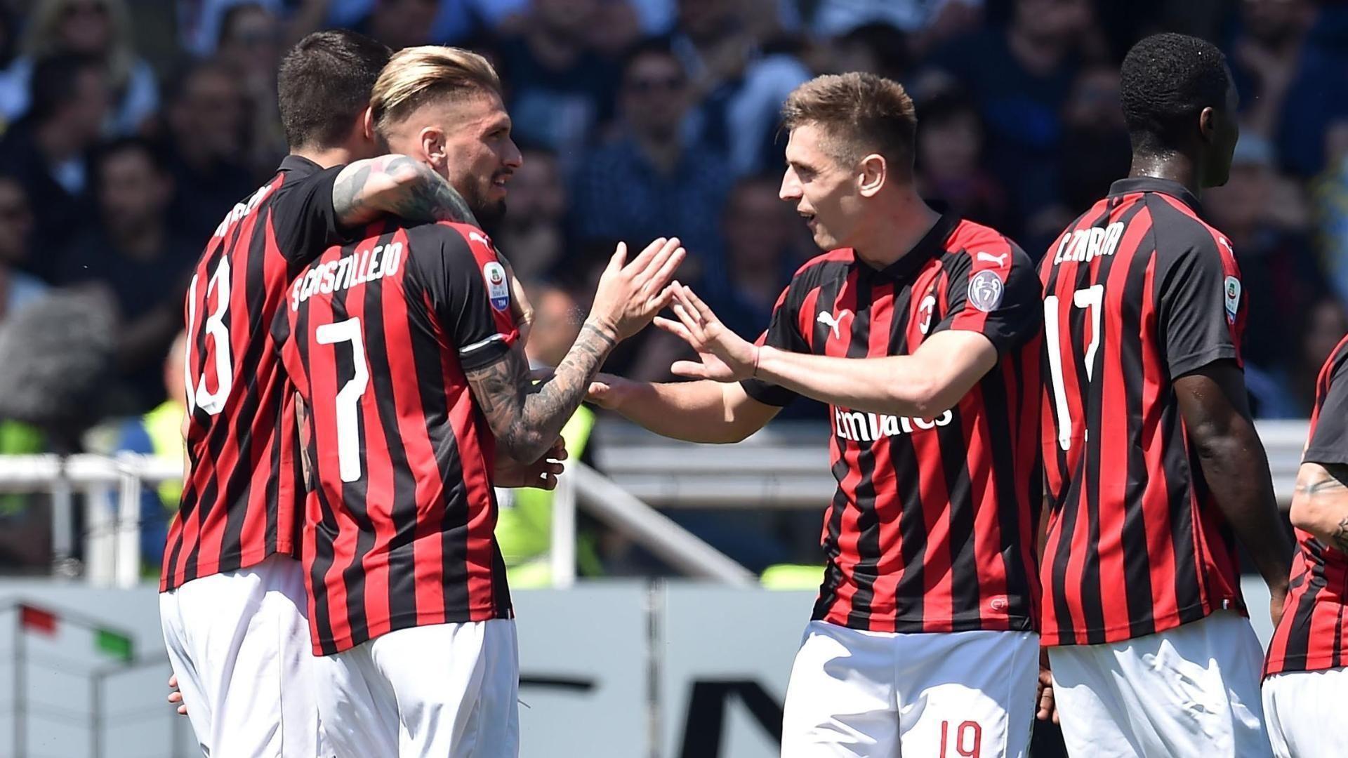 Castillejo's smart header gives Milan the lead