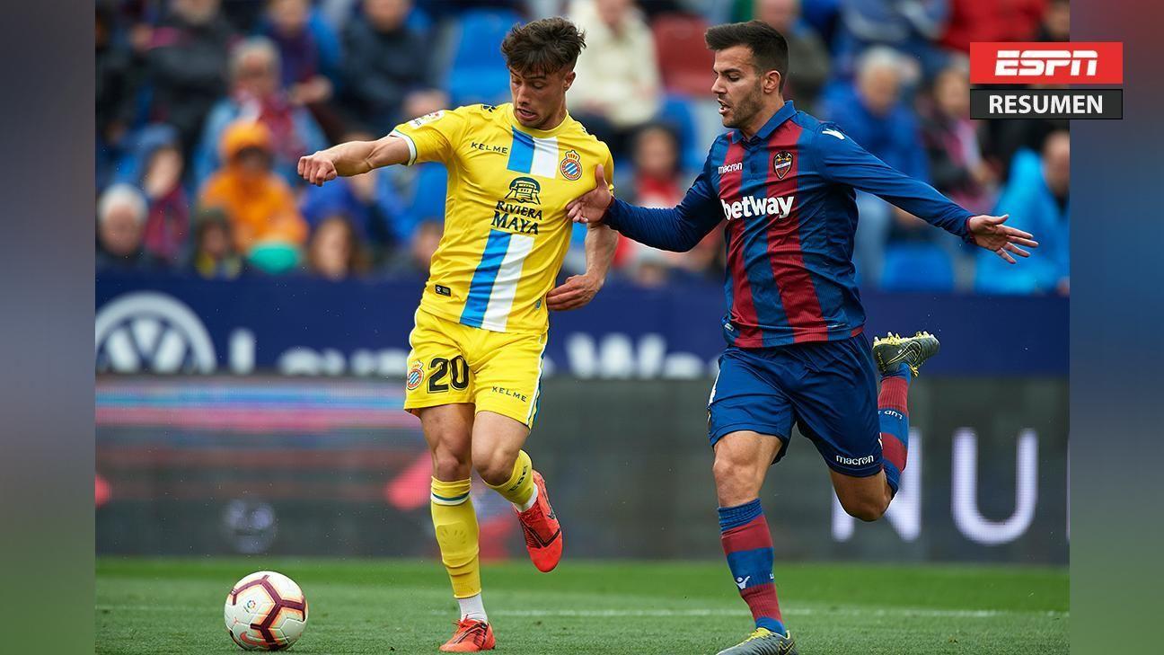 Levante y Espanyol igualaron 2-2