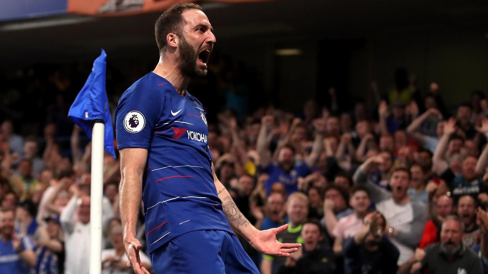 Higuain puts Chelsea in front with powerful strike