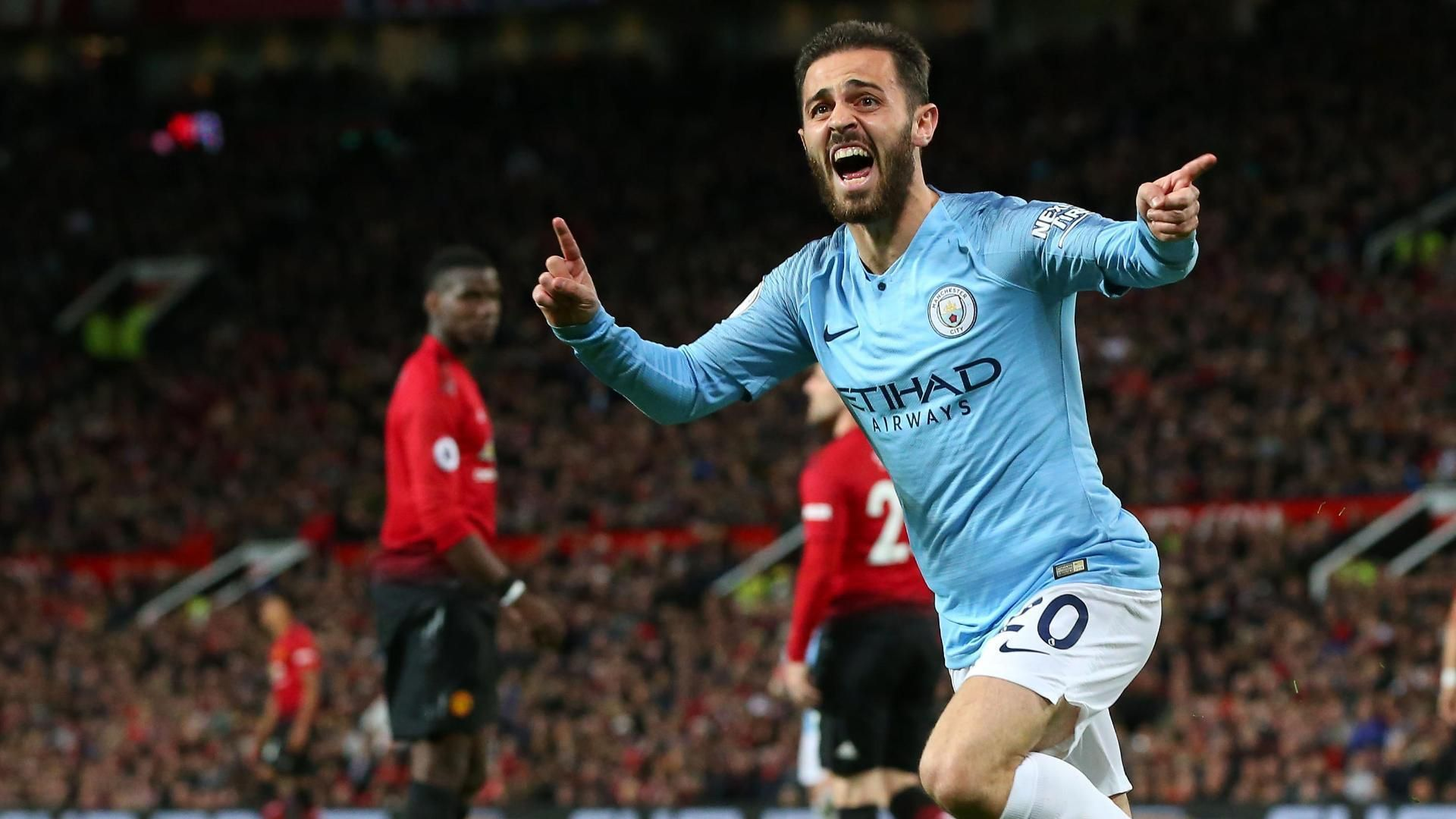 Bernardo Silva puts Man City in front at Old Trafford