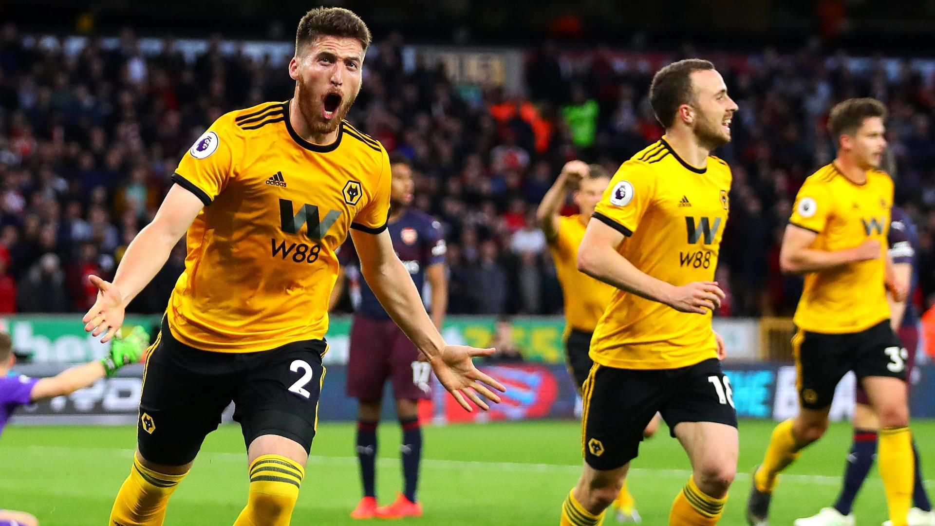 Doherty adds to Arsenal's misery with a 2nd for Wolves