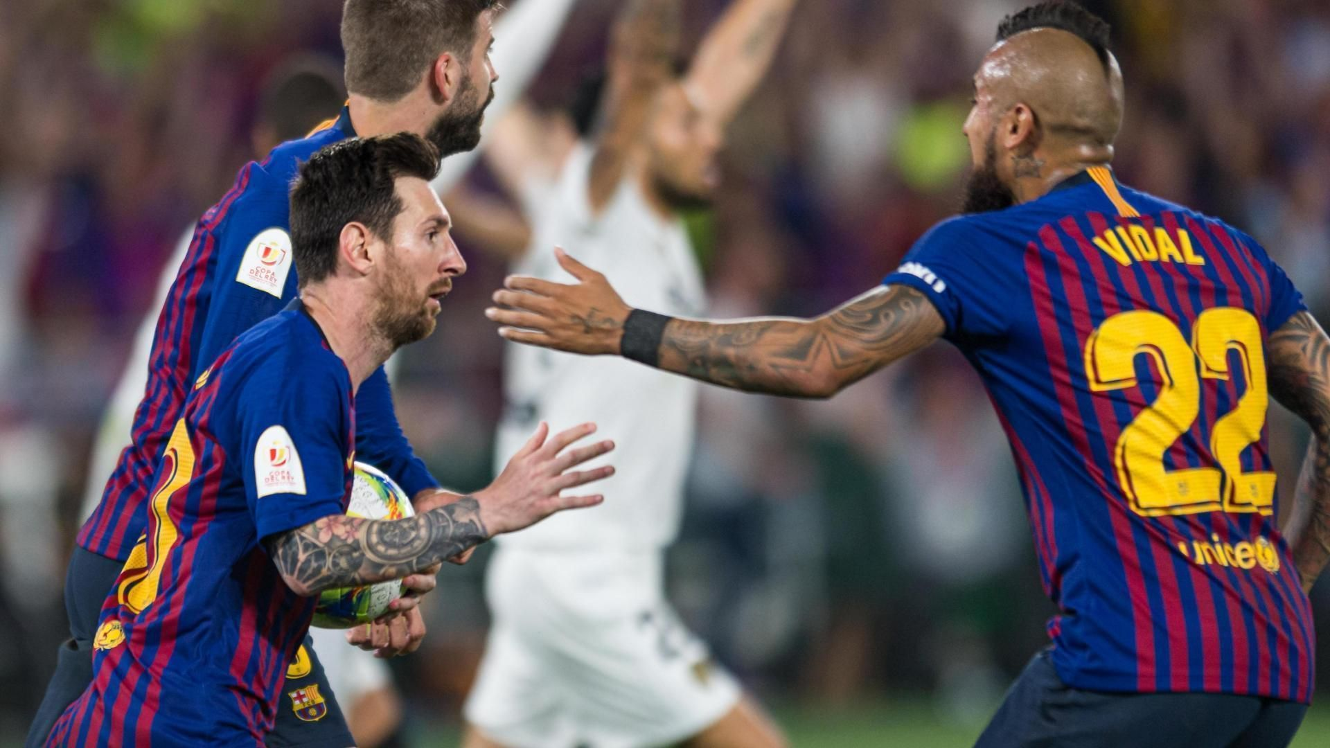 Messi launches Barcelona within 1