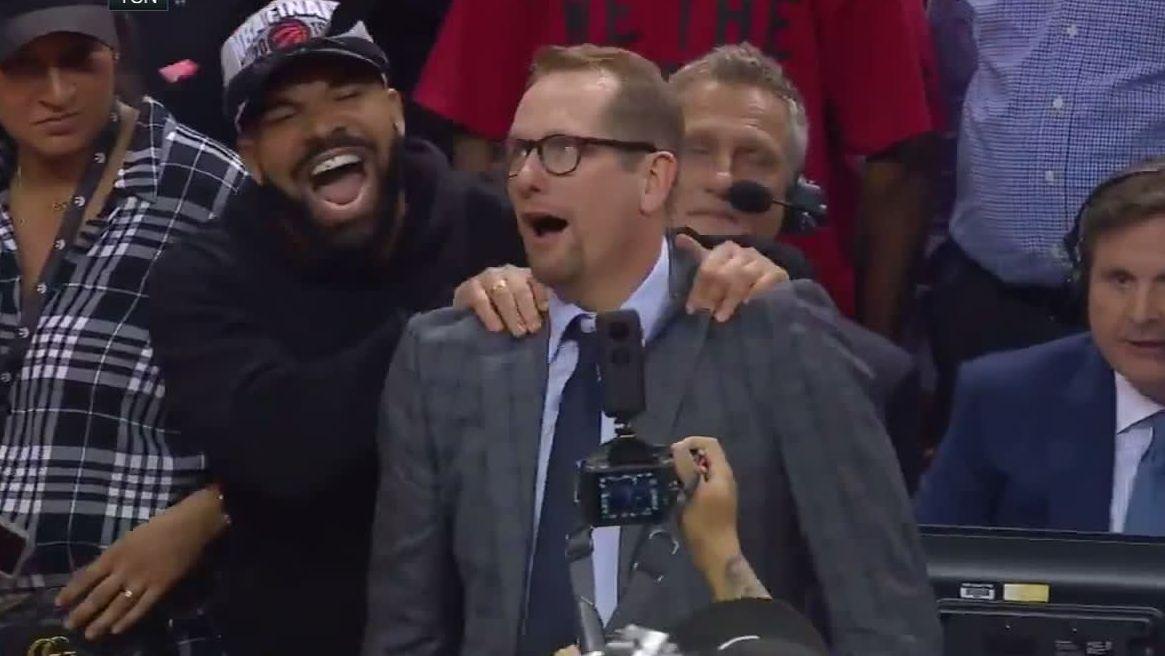 Drake gives coach Nurse celebratory massage