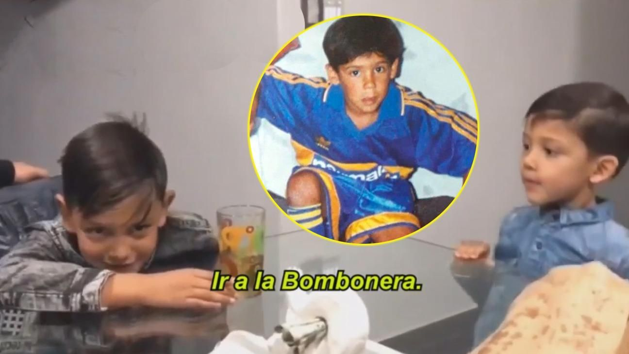 Los hijos de un futbolista se emocionaron cuando les dijeron de ir a la Bombonera